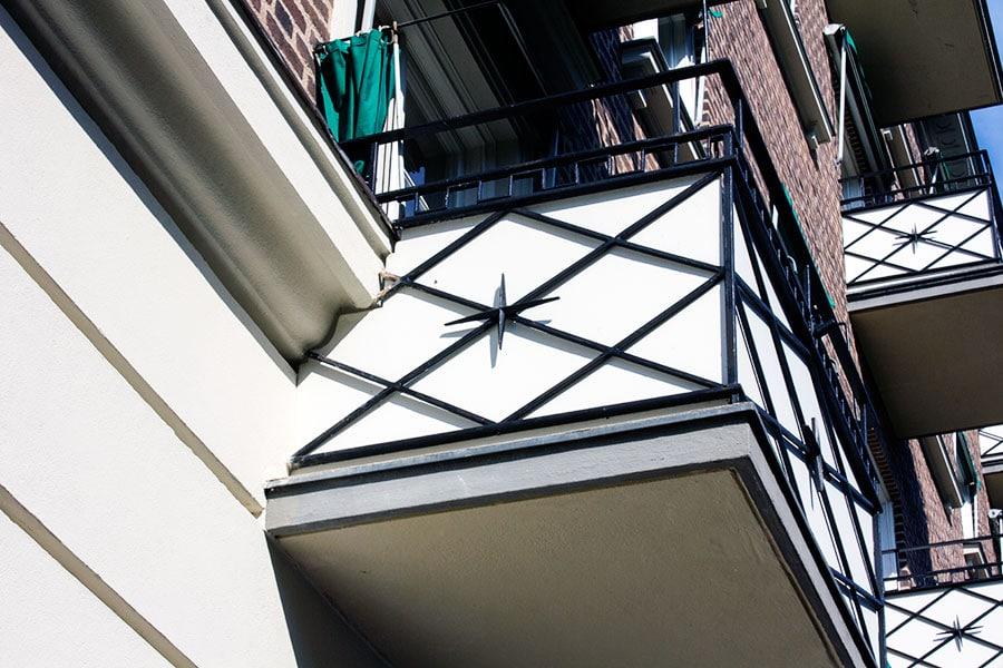 Balkongarbete i Helsingborg, balkong