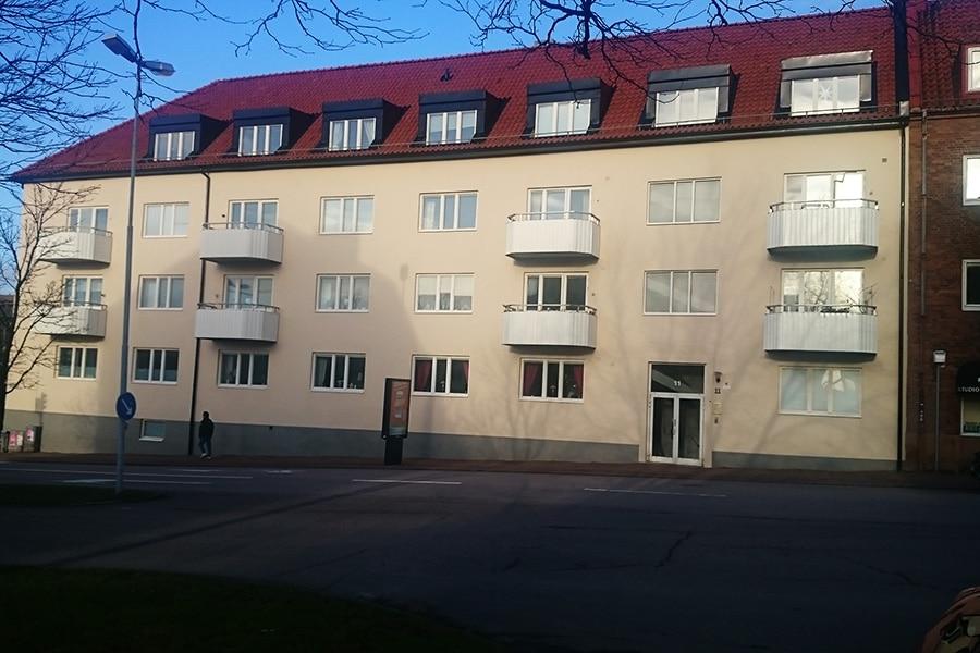 Fasaden efter renovering